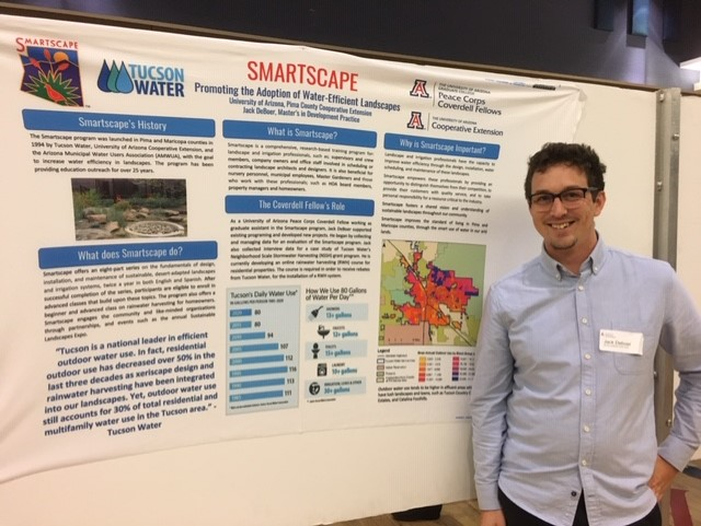 Jack de Boer with his poster (which is also available as PDF)