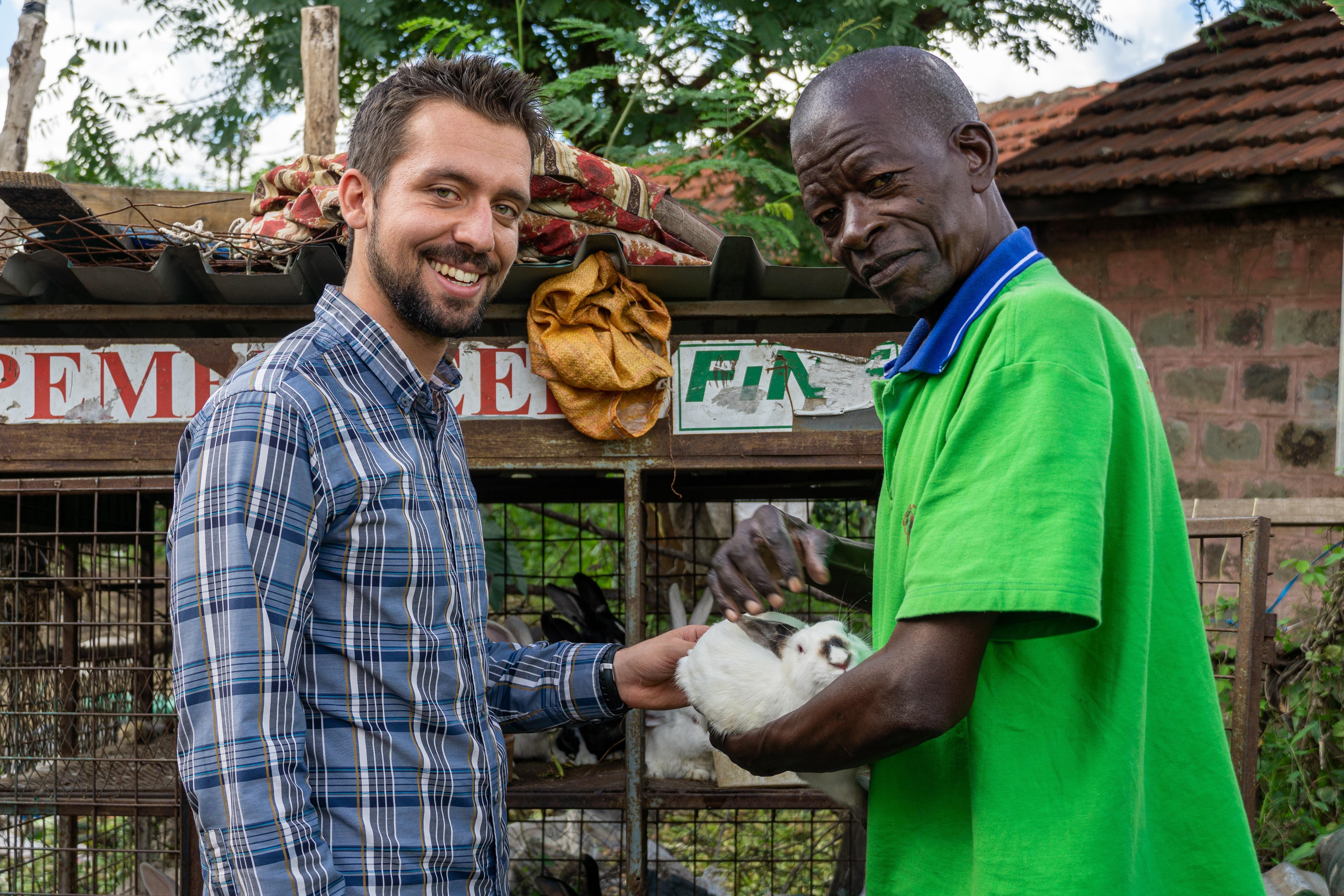 Jake Meyers and Francis Wachira in Kenya