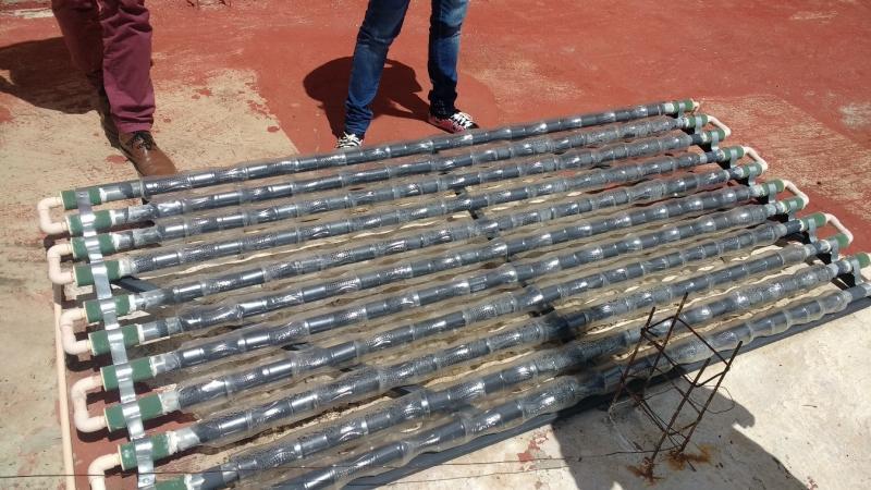 Self-built solar heater