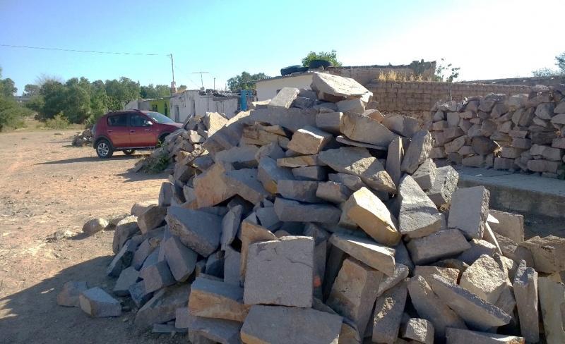 Pile of slab