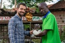 Jake Meyers and Francis Wachira in Kenya