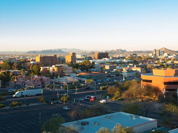 Landscape of UA and surrounding Tucson community
