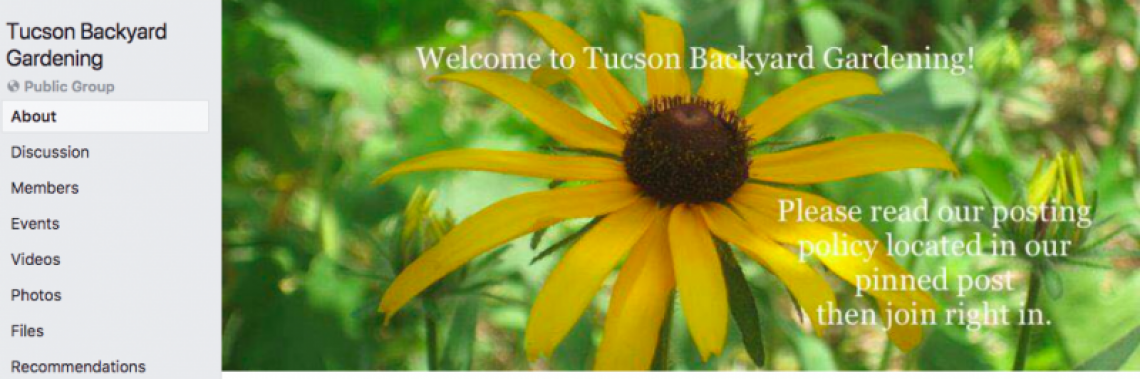 Tucson Backyard Gardening homepage