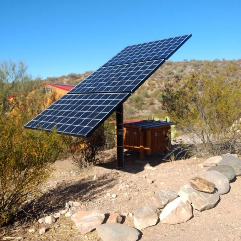 Solar panel in Cascabel, Cochise County, Arizona