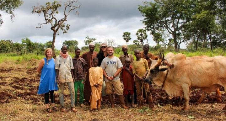 Robert Harwell with farmers in Cameroon
