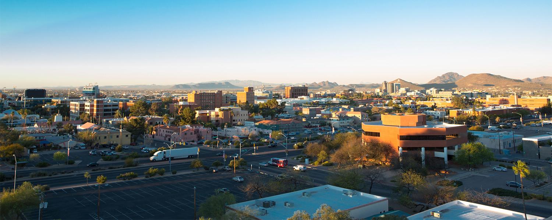 Landscape of UA and surrounding Tucson community